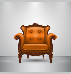 Retro chair orange vector