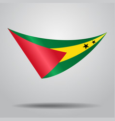 Sao tome and principe flag background vector