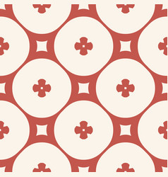 seamless pattern simple geometric floral texture vector image