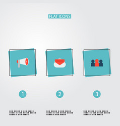 set of marketing icons flat style symbols with vector image