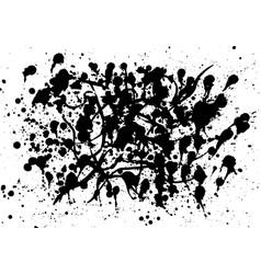 set of splash on white background vector image