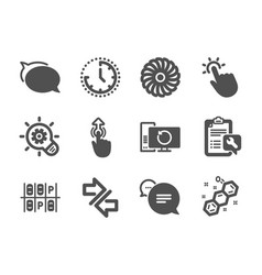 Set technology icons such as talk bubble vector