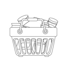 Shopping basket symbol vector