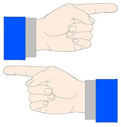 Showing With Hand vector image
