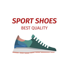 Sport shoes quality sneakers logo icon isolated vector