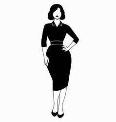 stylish womens clothing on model retro look vector image