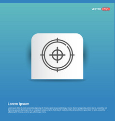 target icon - blue sticker button vector image