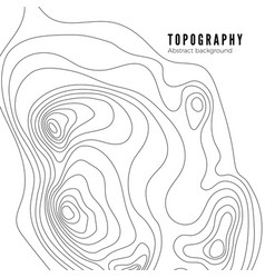 topographic map contour background pattern vector image