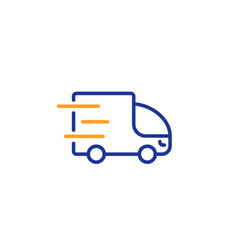 truck delivery line icon express service sign vector image