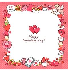 valentine card frame vector image