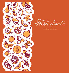 vertical pattern of fruit vector image