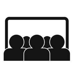 webinar audience icon simple style vector image