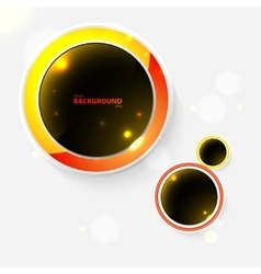 Abstract background with black bubbles vector
