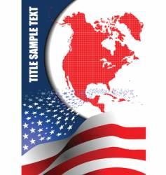 american flag brochure vector image