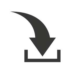 arrow download symbol isolated icon vector image