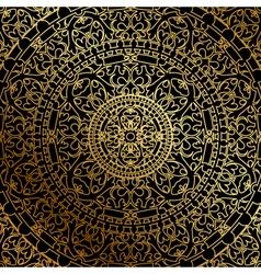 black background oriental ornament vector image vector image
