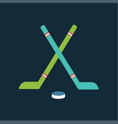 sport team hockey badge vector image vector image