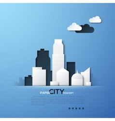 White paper city concept vector image