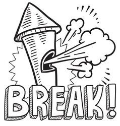Break vector image vector image