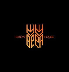 brew house logo vector image vector image