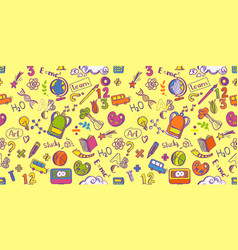 education supplies seamless pattern vector image vector image