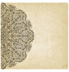 Ornate mehndi old background vector image