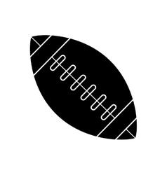 silhouette ball american football sport vector image vector image