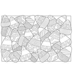 candy corn sweets coloring page candy corn vector image vector image