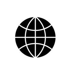 globe icon black sign on vector image
