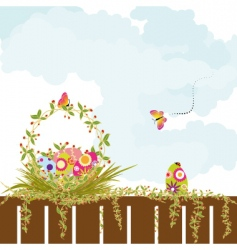 springtime Easter holiday wallpaper vector image vector image