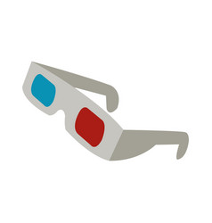 3d glasses to see movie in the cinema vector image