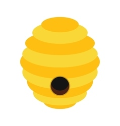 Bee hive flat icon vector image