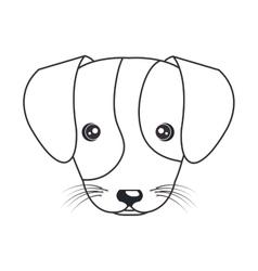 cartoon cute puppy hand draw vector image