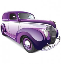 hot rod coupe vector image vector image