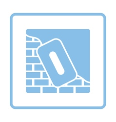 Icon of plastered brick wall vector image vector image
