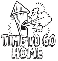 Time to go home vector image