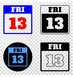 13th friday calendar page eps icon with vector image