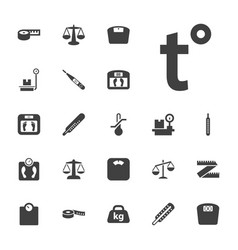 22 scale icons vector