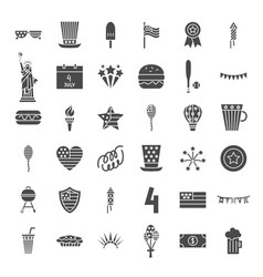 4 july solid web icons vector image
