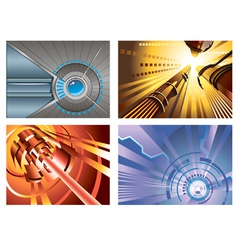 Abstract hi-tech backgrounds vector image