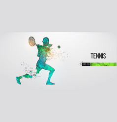 Abstract silhouette tennis player woman girl vector