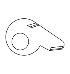 American football whistle referee outline vector