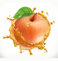 apple juice fresh fruit 3d icon vector image