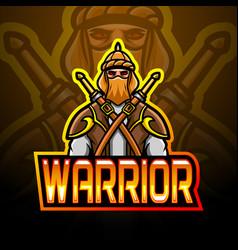 Arabian warrior esport logo mascot design vector