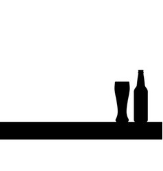 beer silhouettes vector image