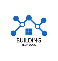building tech logo vector image