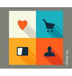 Business icon set Management marketing e-commerce vector image