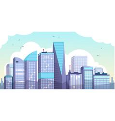 cartoon morning city urban landscape vector image