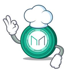 Chef maker coin character cartoon vector