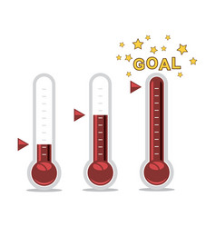Clipart goal thermometers at different levels vector